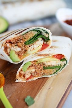 Grilled Tex-Mex Chicken and Quinoa Wraps - Quick Dinners