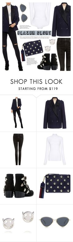 """Blazer Glory!"" by ifchic ❤ liked on Polyvore featuring N°21, Citizens of Humanity, Rachel Comey, Carven, Ruifier, Le Specs Luxe and contemporary"