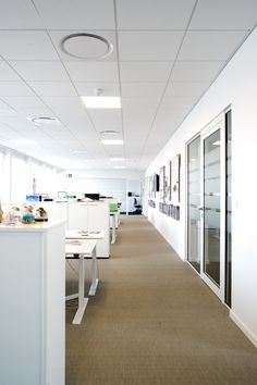 Open plan workstations - MTG's office interior design in Copenhagen - by Danielsen Spaceplanning