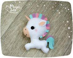 Cute Unicorn felt ornament unicorn Christmas ornament Easter decor felt cute toy Christmas ornaments felt by MyMagicFelt on Etsy