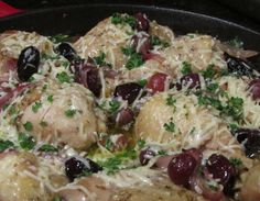 Cast-Iron Chicken with Grapes and Kalamata Olives