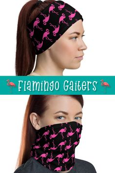 Flamingo neck gaiter is a versatile accessory that can be used as a face covering, headband, bandana, wristband, and neck warmer. Upgrade your accessory game and find a matching face shield for each of your outfits. Flamingo Gifts, Flamingo Pattern, Family Shirts, Neck Warmer, Bandana, Game, Trending Outfits, Accessories, Beauty