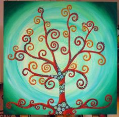Oil trees Art Work, My Arts, Trees, Symbols, Colours, Oil, Cool Stuff, Canvas, Painting