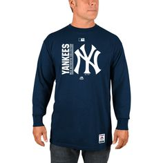 New York Yankees Majestic Authentic Team Icon Long Sleeve T-Shirt - Navy - $27.99