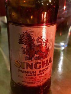 Singha beer. Thai beer since 1933