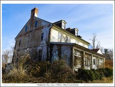 Overgrown grounds at the 1760's Primrose Hill House on a late Winter morning in Annapolis Maryland. Photograph published on March 7th 2016. To see a full size version of this photo as well as the Annapolis Experience Blog article click on the Visit Site button. Image and article Copyright © 2016 G J Gibson Photography LLC.
