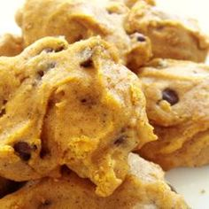 Pumpkin Chocolate Chip Cookies. OH MY GOSH. i feel like these wouldn't even make it into the oven. i want this and a spoon!