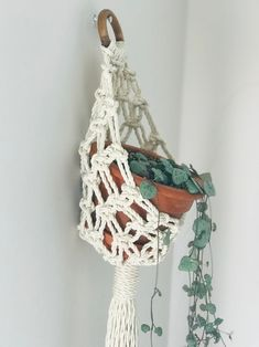 This item is unavailable Macrame Plant Hanger Patterns, Macrame Wall Hanger, Macrame Hanging Planter, Macrame Plant Holder, Macrame Patterns, Hanging Plants, Macrame Art, Macrame Design, Macrame Projects