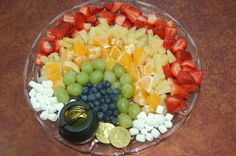 rainbowed fruit, great for St. Patricks Day