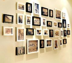 34 box wood photo wall  room frame wall creative household contracted photo wall composition Decorativewooden photo frame