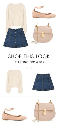 """Chloe in baby pinks"" by iris0504 on Polyvore featuring Chloé and Bebe"