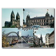 Vintage Wuppertal-Foto-Collage Postkarte