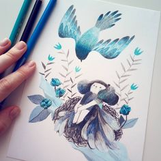 Watercolor Tattoo, Illustration, Original Artwork, Character Design, My Etsy Shop, The Originals, Instagram, Drawings, How To Make