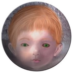 This is a Doll porcelain plate by Artful Oasis. - home gifts ideas decor special unique custom individual customized individualized