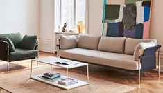 The Hay Eiffel Rectangular Coffee Table is simplistic yet eye-catching and makes a great addition to any living area, offering contemporary elegance infused with Scandinavian design principles. Danish Furniture, Find Furniture, Furniture Design, Elegant Sofa, Lounge Chair, Style Minimaliste, Couch, Interior Design Tips, Design Ideas