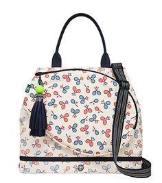 9e1efa10 PRINTED CANVAS TENNIS TOTE Tennis Bags, Sport Tennis, Canvas Backpack,  Print Patterns,