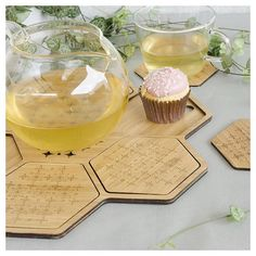 Looking for gift ideas? What about this laser cut bamboo coaster set?