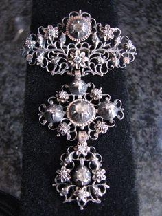 Georgian rose cut diamond 18th century pendant c. 1770
