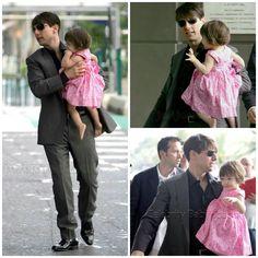 Actor - ator - hair - cabelo - pelo - dark - escuro - oscuro - black - preto - negro - eye - olho - ojo - blue - azul - beautiful - bonita - hermoso - elegante - elegant - moda - look - style - estilo - inspiration - inspiração - inspiración - fashion - chic - dress - vestido - pink - rosa - Lilly Pulitzer - Princess - princesa - baby - bebê - daughter - filha - hija - father - pai - padre - dad - papai - papá - happy family - família feliz - june - 2007 - Cannes - Suri Cruise - Tom Cruise