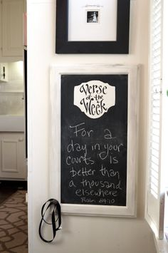 Verse of the Week Chalkboard  Large by kijsa on Etsy