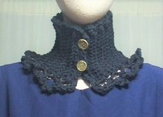 Choker dress Collar Gothic Lolita Vamp black crocheted Geechlark c145 #Geechlark #CrochetedChoker