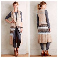 I just discovered this while shopping on Poshmark: Anthropologie Oullins Jacquard sweater vest. Check it out!  Size: XS/S