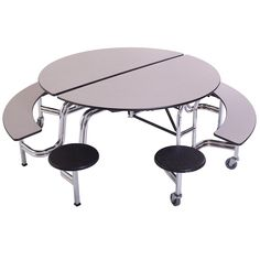 Round Mobile Stool u0026 Bench Cafeteria Table - 60 Dia  sc 1 st  Pinterest & Elongated Mobile Stool Cafeteria Tables at SCHOOLSin | School ... islam-shia.org