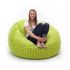 Looking for the perfect Fufsack Memory Foam Contemporary, Transitional Polka Dot Green Large Bean Bag Lounge Chair? Please click and view this most popular Fufsack Memory Foam Contemporary, Transitional Polka Dot Green Large Bean Bag Lounge Chair.