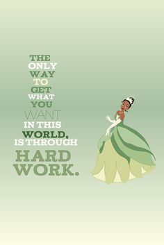 tiana... princess and the frog inspirational quote.. . instant download jpeg