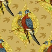 Colorful fabrics digitally printed by Spoonflower - Extinct birds - Passenger pigeons Passenger Pigeon, Extinct Birds, Ghosts, Custom Fabric, Spoonflower, Guest Room, Rooster, Craft Projects, Room Ideas