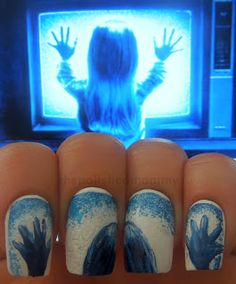 The Polished Mommy: They're Heeeeeeeeeeeere... Poltergeist nails.