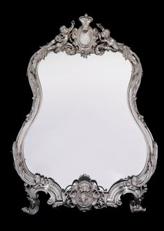 A Large Silver Dressing-Table Mirror MARKED SAZIKOV WITH THE IMPERIAL WARRANT, MOSCOW, 1848 | Christie's
