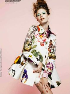 Stella McCartney Resort 2011 Floral Prints Off the Runway   Love this trench coat!