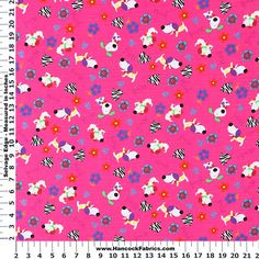 Blizzard Woof Woof Flannel Cotton Fabric - Blizzard