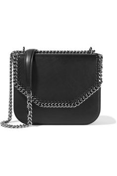 Stella McCartney - The Falabella Box Faux Leather Shoulder Bag - Black - one size