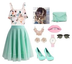 """""""Sin título #5"""" by nahitos-pazmino on Polyvore featuring moda, Chicwish, New Look, Apt. 9, River Island y Ray-Ban"""
