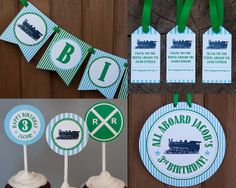 Train Birthday Party Collection  Vintage by TangerinePaperShoppe, $44.50