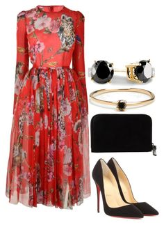 """Untitled #2165"" by natalyasidunova ❤ liked on Polyvore featuring Dolce&Gabbana, Christian Louboutin, MM6 Maison Margiela and Loren Stewart"