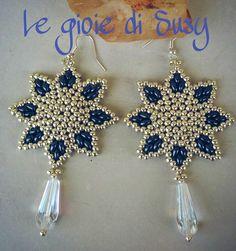Orecchini - Seed Beads/Twins Sunflower-like Earrings