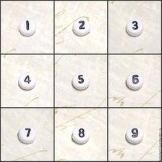 Купить бусина цифра, 7 мм, акрил, цвет белый, 1 шт - белый, бусины