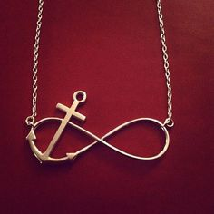 Refuse to Sink Infinity Necklace⚓⚓❤❤