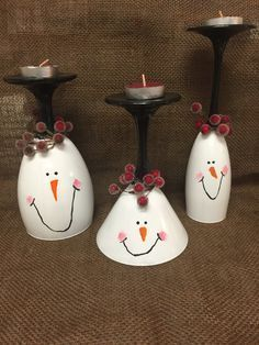 Snowman crafts DIY - Snowman Christmas wine glass candle holder Christmas decorations for mantle Christmas Centerpiece candles Christmas gifts Easy Christmas Crafts, Homemade Christmas, Simple Christmas, Christmas Projects, Christmas Decorations, Christmas Ornaments, Diy Snowman Decorations, Crafty Christmas Gifts, Beautiful Christmas