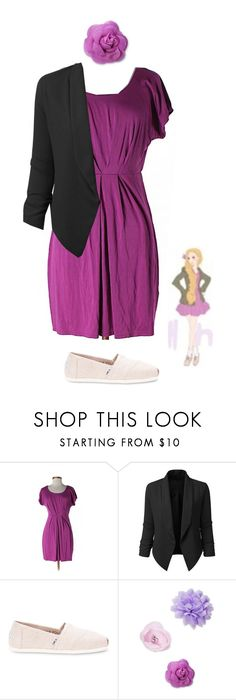 """""""Rapunzel"""" by disney-andthings ❤ liked on Polyvore featuring Disney, LE3NO, TOMS and Josette"""