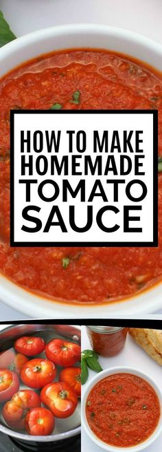 This simple, fresh homemade tomato sauce is the perfect partner for all your Italian recipes. Whether you use canned tomatoes or fresh tomatoes, the recipe to make the tomato sauce is very easy but the flavor turns out phenomenal. Fresh Tomato Recipes, Tomato Salad Recipes, Pasta Sauce Recipes, Tomato Sauce Canning, Simple Tomato Sauce, Recipes With Fresh Tomatoes, Pasta Sauce Using Fresh Tomatoes, Garden Tomato Recipes, Tomato Ideas