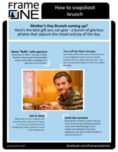 How to snapshoot brunch: Mother's Day brunch coming up? Here's how to get a great pic (and yeah, I know it's a pic of my Dad. Apparently I'm the worst son ever.)