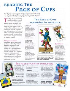 Tarot ~ cups Page