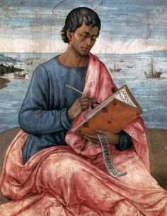 """Saint John the Evangelist on the Island of Patmos"" (detail), 1480-85, Domenico Ghirlandaio."