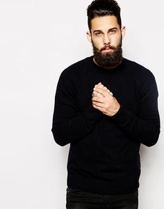 Barbour+Jumper+in+Lambswool+Crew+Neck