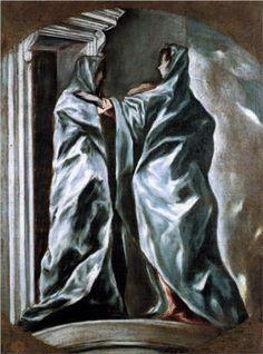 'The Visitation,' ca. 1610-14; El Greco, 1541-1614; oil on canvas; Dumbarton Oaks, Washington DC, U.S.A.