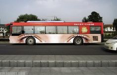 #streetmarketing bus eyes